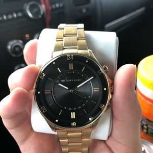 e993cd84fab7 Michael Kors Accessories - Reid Gold-Tone Hybrid Smartwatch